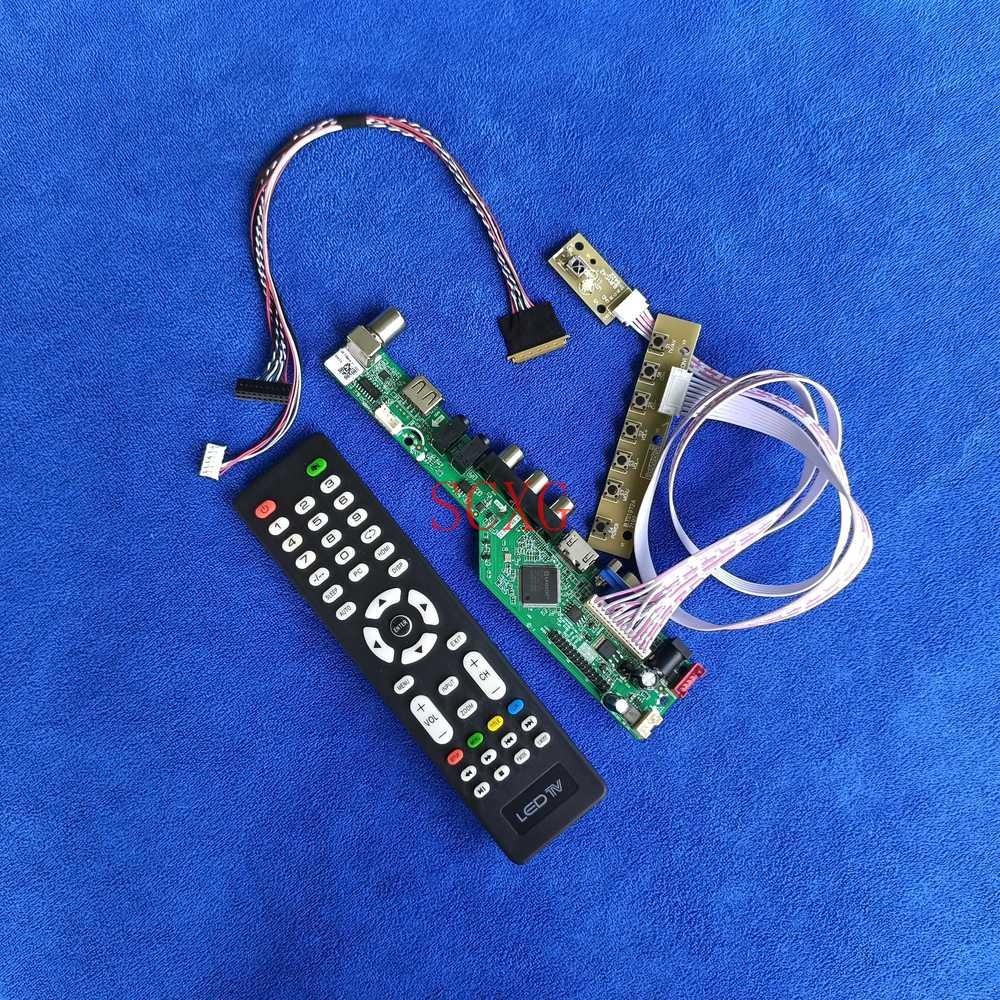 LVDS 40 دبوس HDMI-متوافق VGA USB AV ل N140B6-L01/L02/L03/L05/L06/L0A/L0B/L24 1366*768 عدة LED/LCD التناظرية مصفوفة محرك المجلس