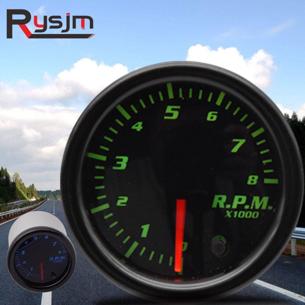 """Tacómetro de coche de 2 """"52mm para motor de barco 12V 1-10 cilindros 7 colores rpm medidor indicador auto motor fueraborda tacómetro Luz de cambio led"""