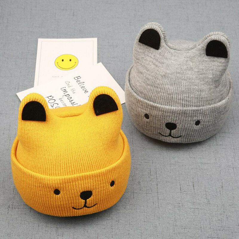 Urso dos desenhos animados Chapéu Para Criança 2018 Do Bebê Do Inverno Da Menina Da Criança Menino Bonito Quente Gorro Beanie Hat Cap Acessórios
