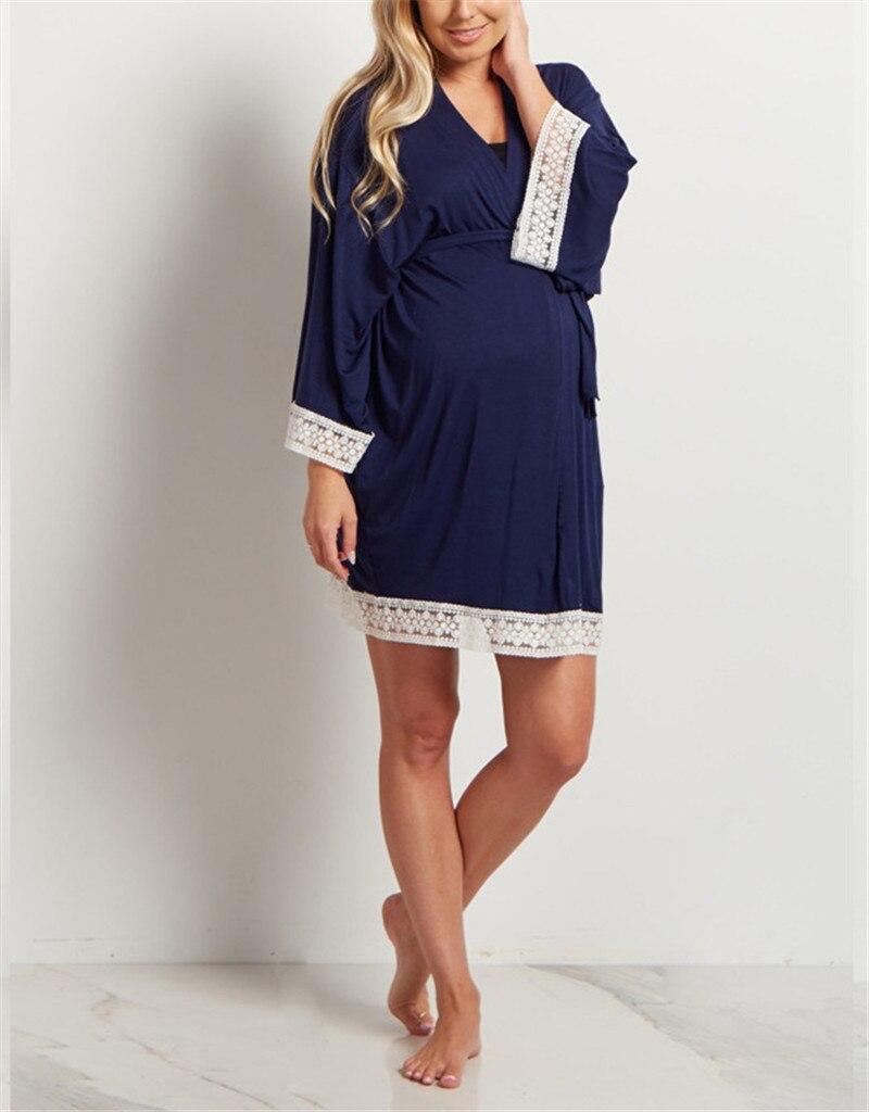 Maternity Nursing Pajamas Nightgown Breastfeeding Dress Long Sleeve Pajamas Pregnant Women Nightwear For Breastfeeding Sleepwear enlarge