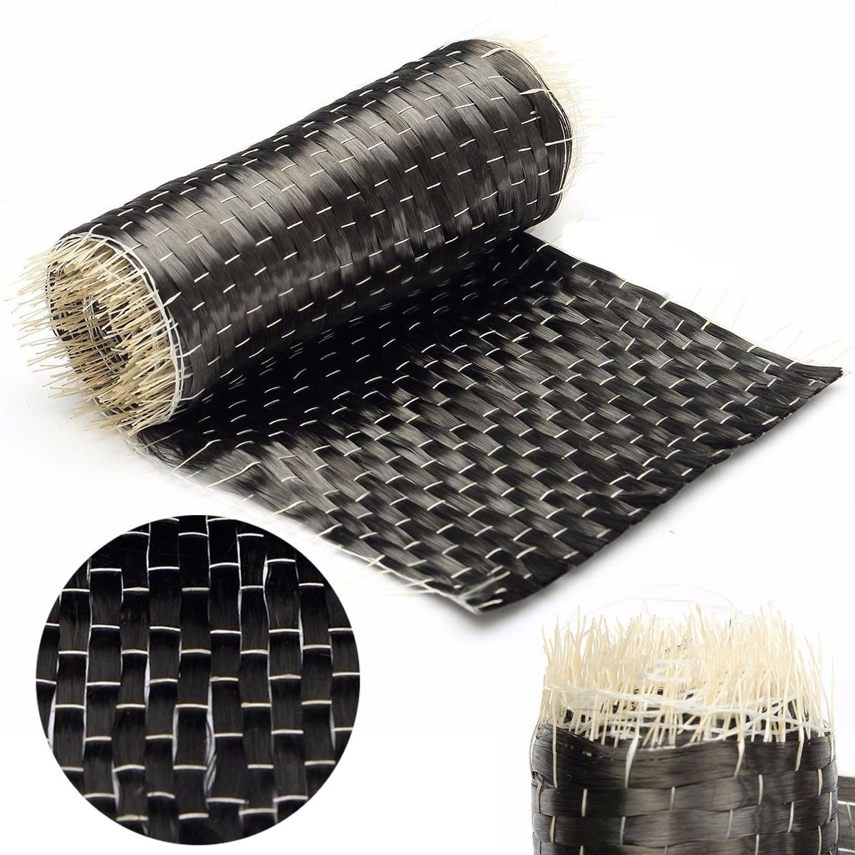 10*100 см черная ткань из углеродного волокна лента однонаправленного переплетения 12K 200G ткань из углеродного волокна для защиты от огня архитектура