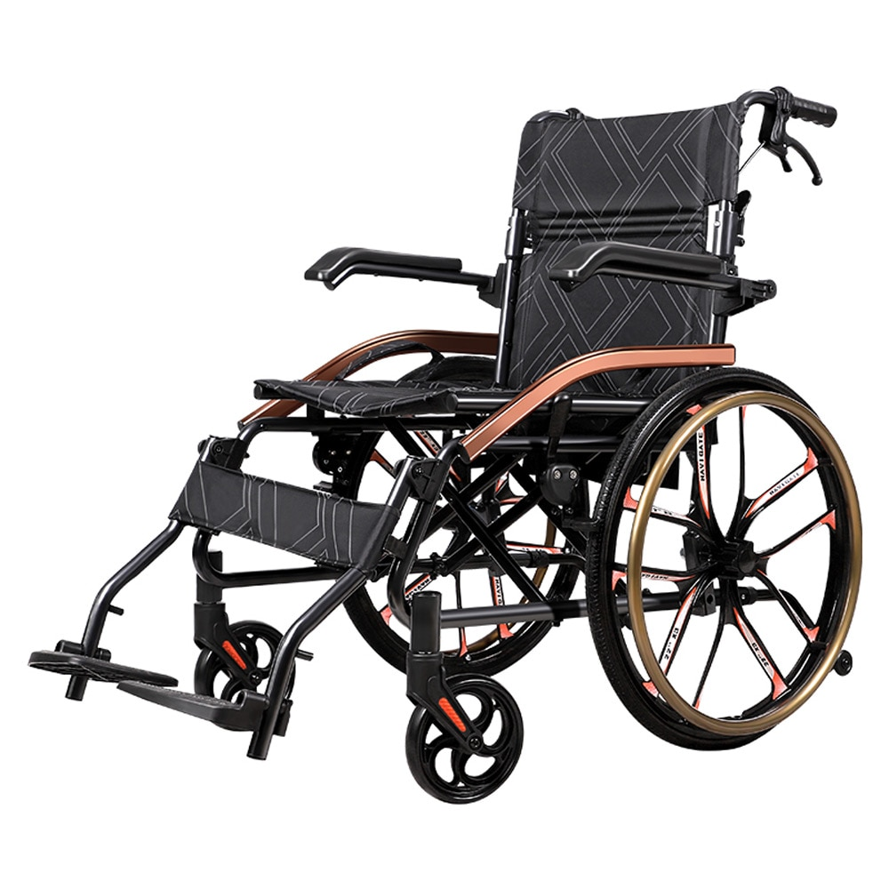 household elderly hand-push wheelchair folding lightweight multi-functional portable scooter for the disabled