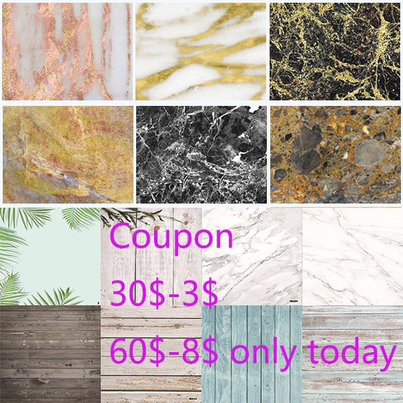 Photo Backgrounds 57X87cm 200color PVC Photography 2side Wood Marble Wall Printing Waterproof Backdrops for Studio Camera Softbx