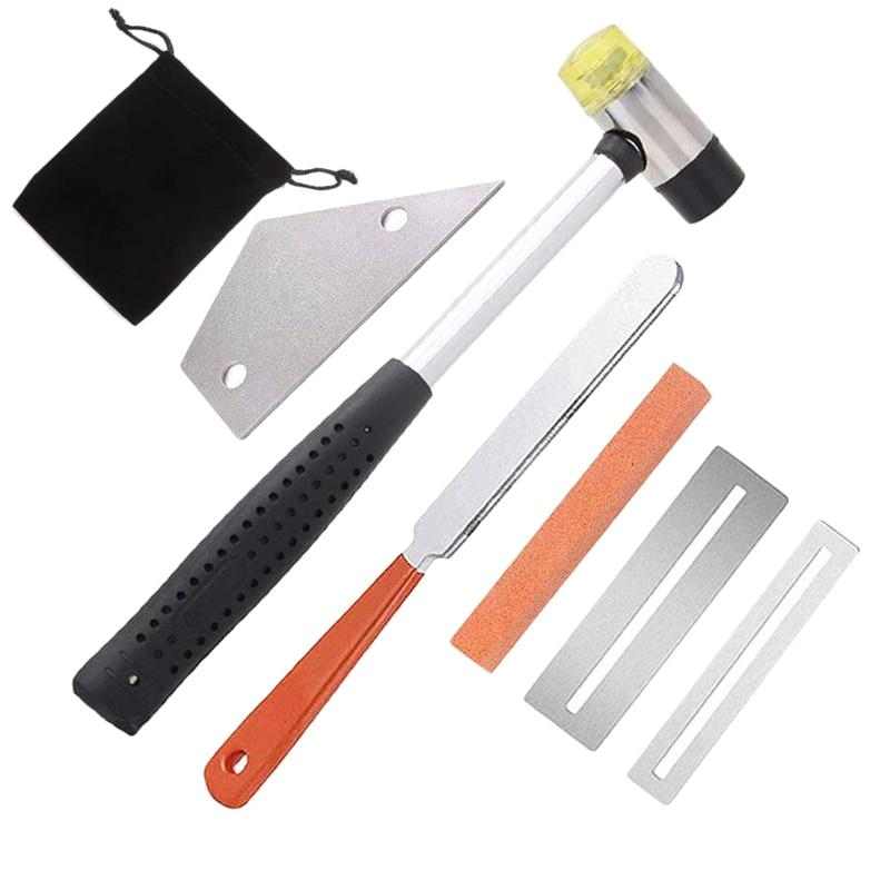 Набор инструментов для гитары lutier включает резиновый молоток для Лада, пилку для Лада для гитары, выравнивание Лада, защита для грифа Pr 2 шт.