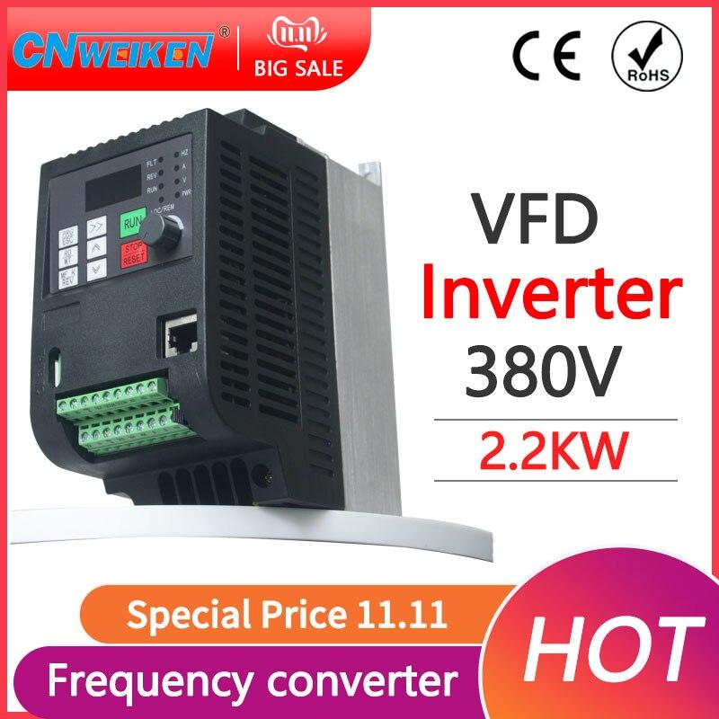 380 فولت 0.75KW/1.5KW/2.2KW Mini VFD محلو التردد المتغير لتحويل سرعة المحرك