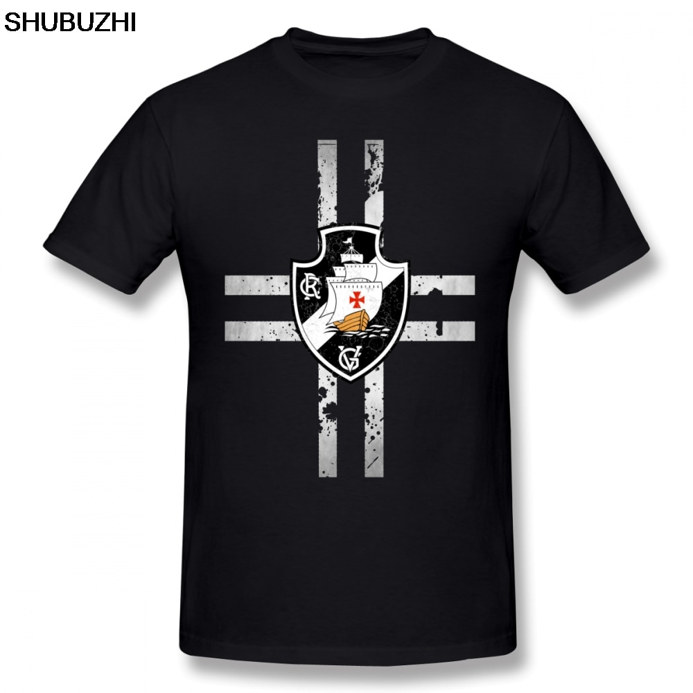 Vasco Da Gama camiseta Vasco negro tinta camiseta algodón playa camiseta 5x impreso manga corta hombres camiseta bonita sbz8064