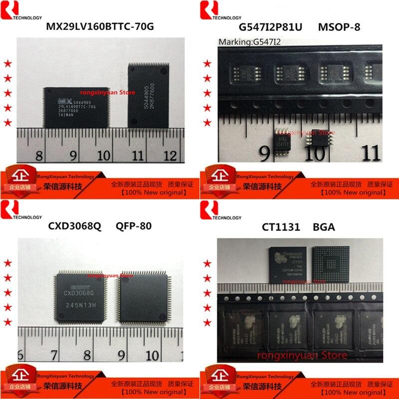 2 pçs/lote MX29LV160BTTC-70G MX29LV160BTTC 29LV160BTTC-70G G547I2P81U G547I2 G54712 CXD3068Q CXD3068 CT1131 100% original Novo