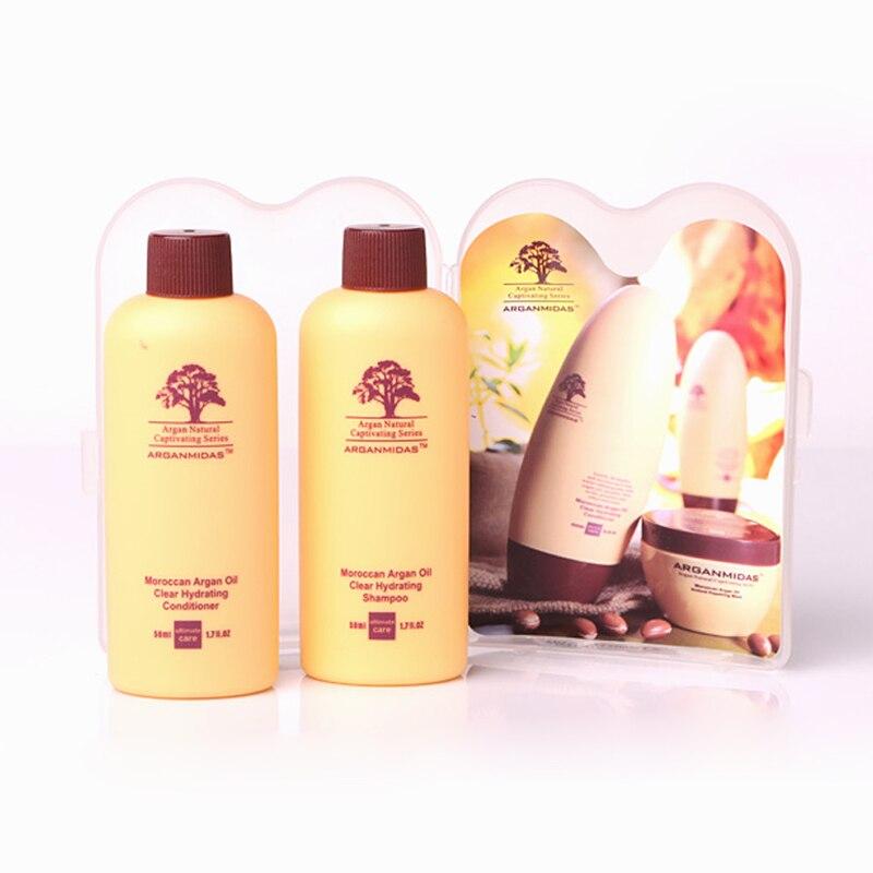 Купить с кэшбэком Free Formaldehyde Keratin 1000ml Brazilian Keratin straight hair Treatment+Free Mini Travel Hair Shampoo and Conditioner Set
