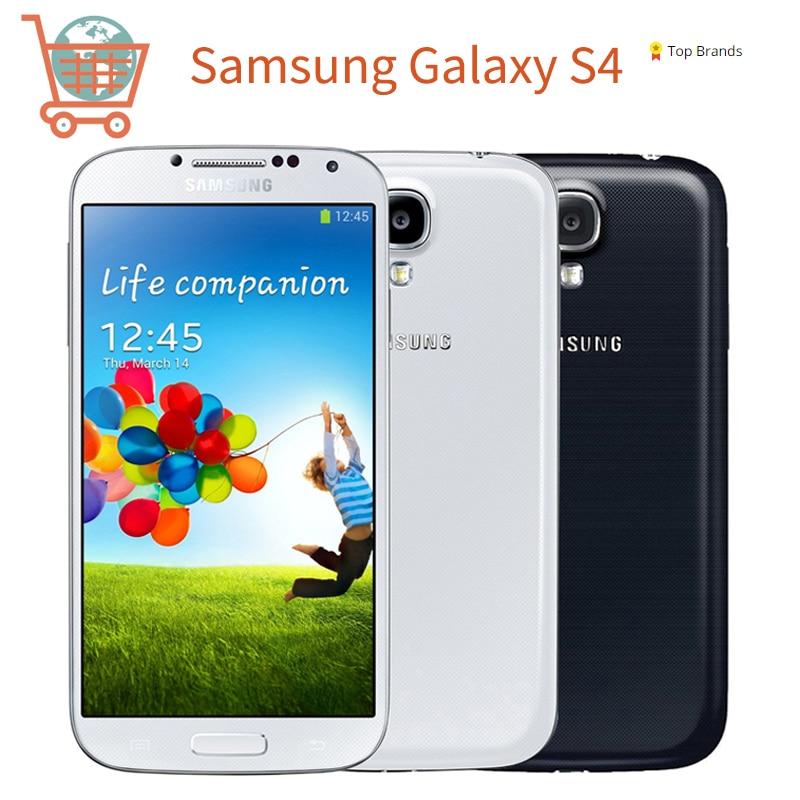 Samsung S4 Refurbished-Original Unlocked Samsung Galaxy S4 i9500 i9505 Mobile Phone 3G&4G 5.0 '' 2GB RAM 16GB ROM Phone