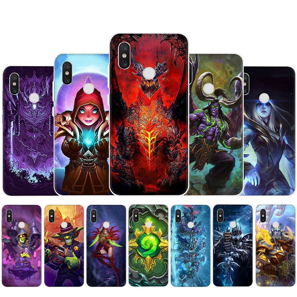 HearthStone héroes de Warcraft de plástico duro carcasa para Redmi 4A 4X 5 6 Plus Pro 7 ir Nota 4 4X 5 5 5 6 6 7 8 Pro 5A Prome 7A K20 Pro