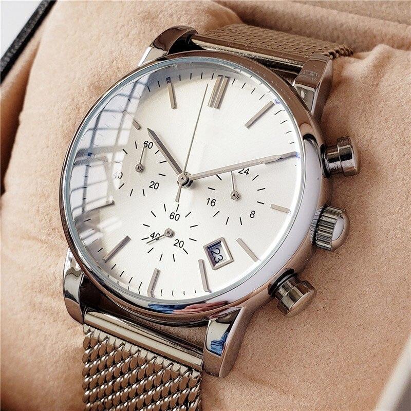 Zegarek kwarcowy luksusowa marka zegarki mężczyźni ultra-cienki wodoodporny pleciony pasek ze stali aaa Boss zegarek moda Vintage Reloj de hombre