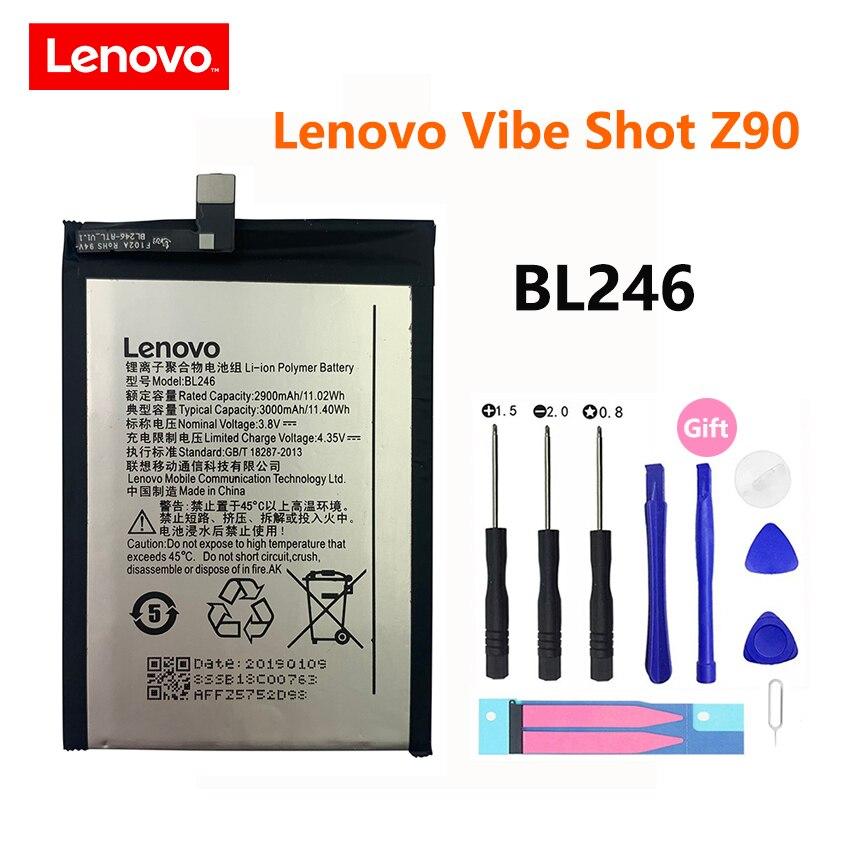 Original teléfono batería BL246 para Lenovo Z90 Lenovo Vibe Shot Z90A40 Z90-7...