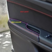 for honda civic 10th gen 2016 2017 4pcs microfiber leather door handle panels armrest covers protective trim with mount fittings