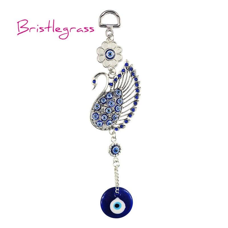Turkislegrass Blue Evil Eye Swan Amulet Lucky Charm Автомобильная подвесная подвеска Маятник защита от благословения подарок домашний декор