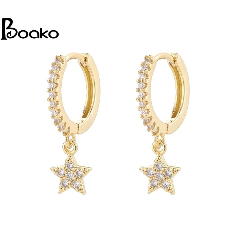 boako-925-стерлингового-серебра-Блестящий-инкрустированные-микро-кубический-циркон-Звезда-обруч-серьги-клипсы-ювелирные-изделия-для-Для-женщи