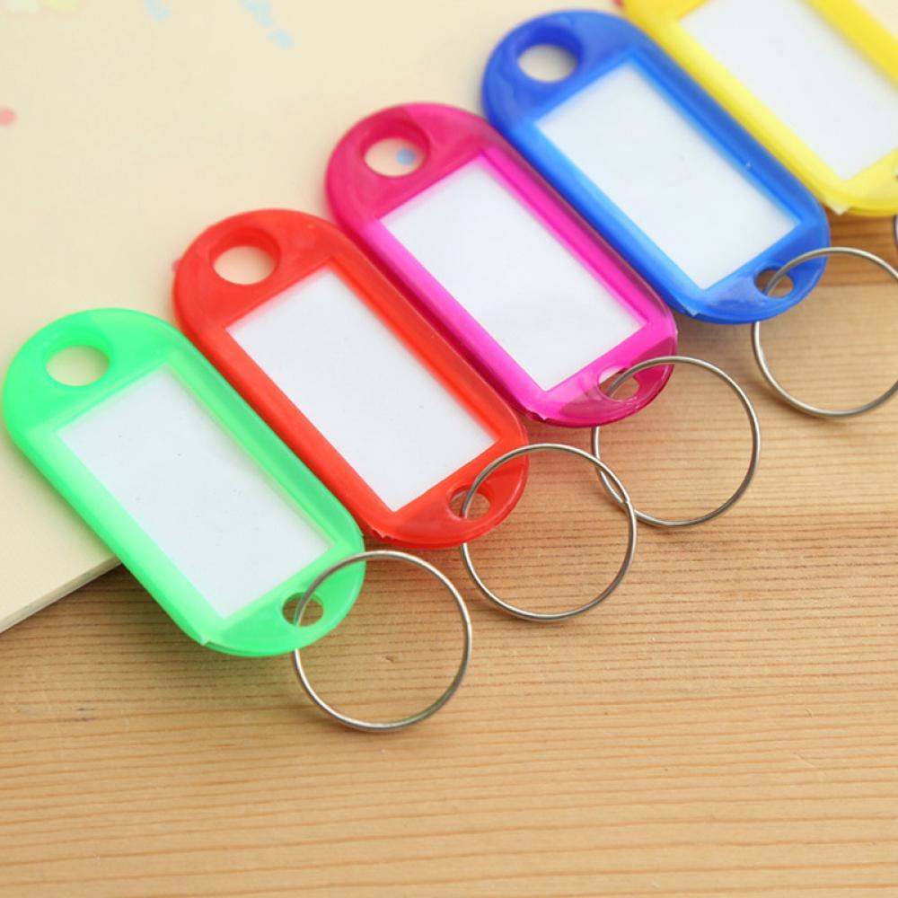 Новые яркие идентификационные этикетки для ключей 10 шт., Именные Бирки, раздельные кольца, брелки для автомобильных дверей