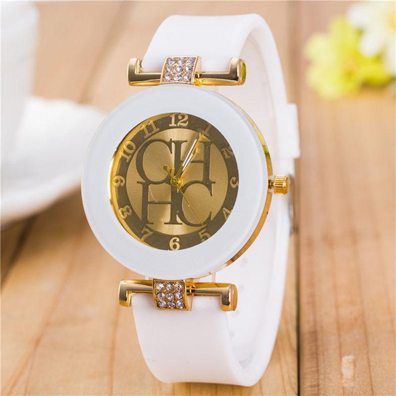 Zegarek damski 2019 famosa marca feminina relógio de pulso moda esportes quartzo relógios feminino casual cristal silicone reloj mujer