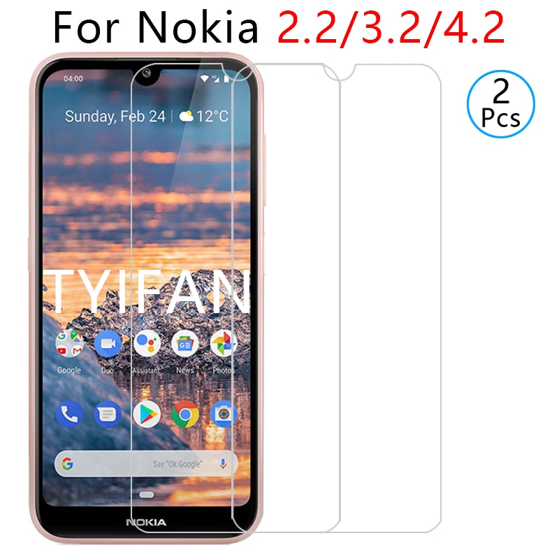 2pcs tempered glass for nokia 2.2 3.2 4.2 protective glass screen protector on nokia4.2 nokia3.2 nok