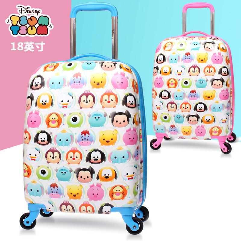 Genuine Disney Childrens Luggage 18-inch Mens And Womens Suitcases Can Sit On A Cartoon Trolley Case That Can Board The Case