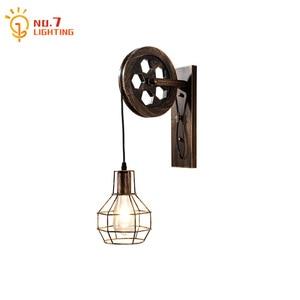 Industrial Retro Vintage Wall Lamp Iron Art Decor Loft Cafe Bar Adjustable Wall Sconces for Living Room Decoration Corridor Cafe