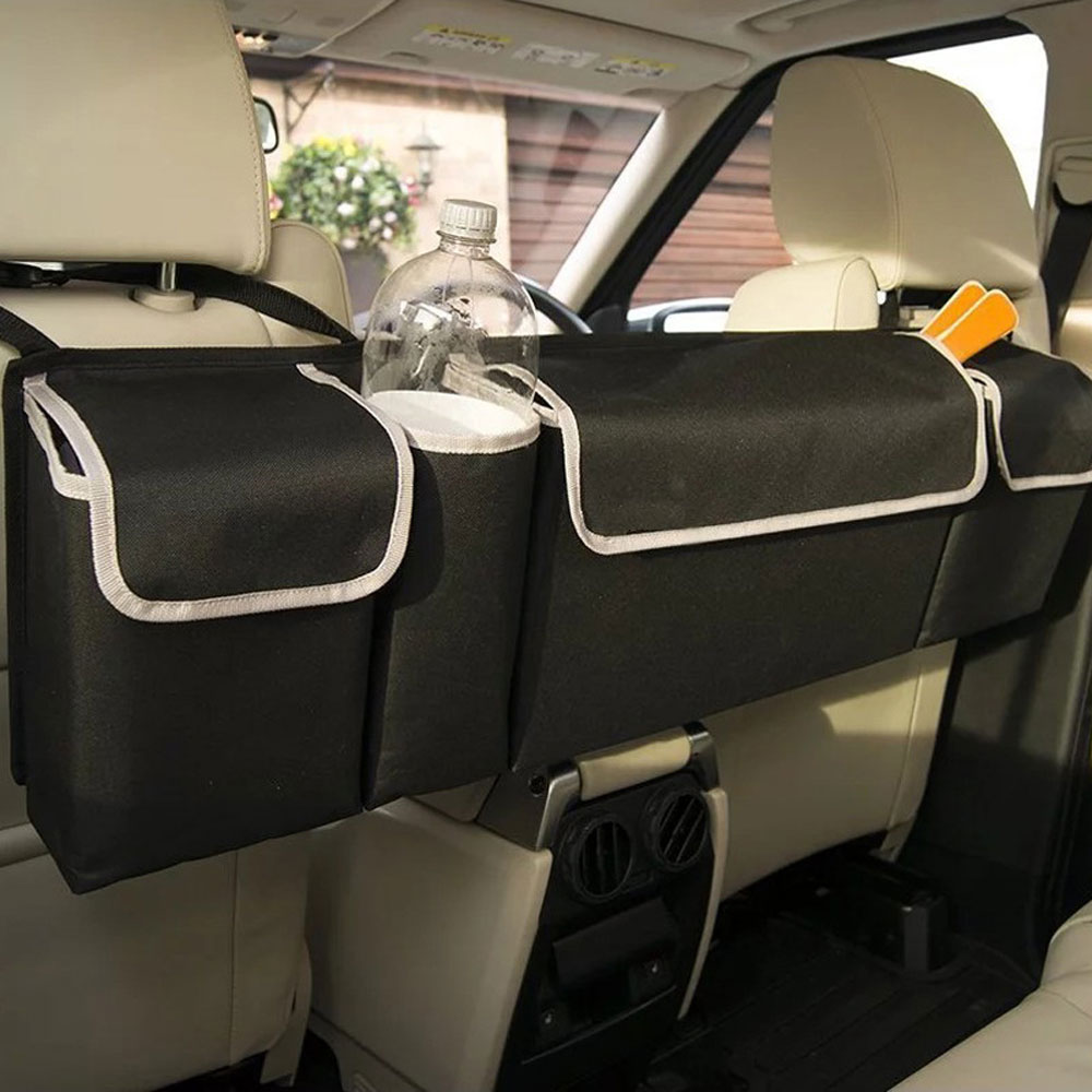 Car Rear Seat Hanging Storage Bag Hanging Nets Multi Pocket Auto Stowing Tidying Seat Back Organizers Trunk Interior Accessories