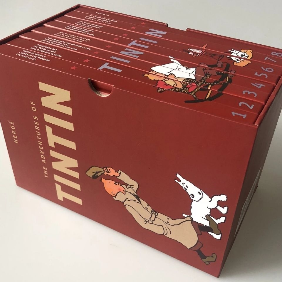 NEW 1-8 Full Set The Adventures of Tintin Set Children English Story Book High Quality English Picture Books Kids Festival Gift