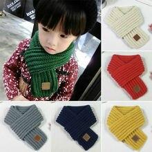 Fashion 100-135cm Children Winter Warm Scarf Boys Girls Knitted Collar Scarf
