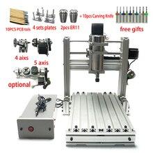 Bricolage LY CNC routeur 3020 3 4 5 axes bois gravure Machine fraisage tour métal routeur 400w USB avec ER11 pince forets fraises