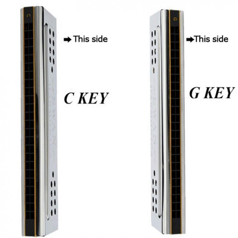 Harmonica Professional 24 Holes Key Of C&G Double Side Tremolo Harmonica enlarge