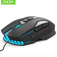 ZUOYA souris de jeu réglable DPI jeu souris LED souris optiques Mause rétro-éclairage filaire USB pour PC portable professionnel Gamer