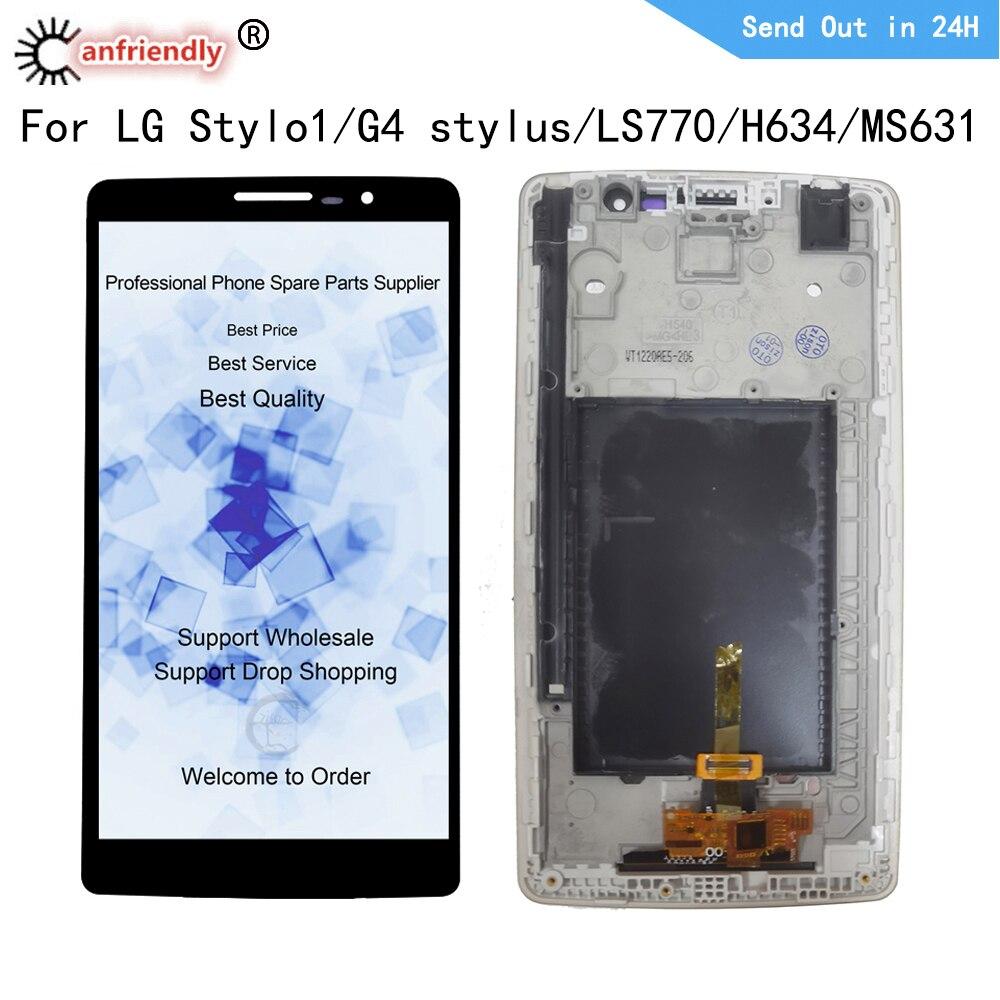 شاشة Lcd مقاس 5.7 بوصة لهاتف LG Stylo 1 / G4 Stylus / LS770/ H634/ MS631, شاشة LCD تعمل باللمس وحدة محول الأرقام مع استبدال مجموعة الإطار