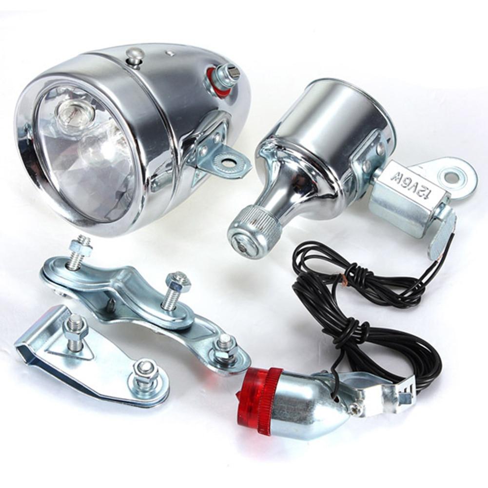 Generador de fricción de bicicleta motorizado 12V 6W Dinamo faro trasero Kit de luz YS-BUY