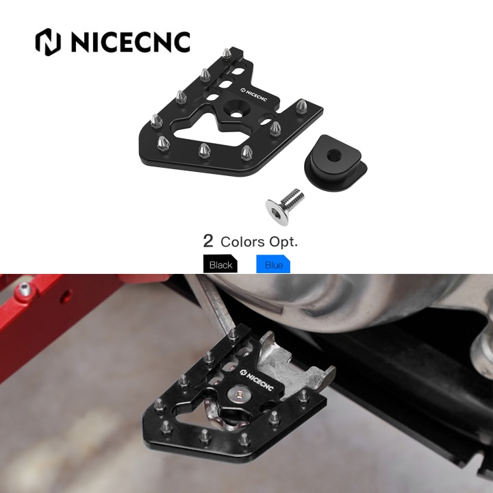 For YAMAHA RAPTOR 700 2013-2020 700R 2016-2020 700R SPECIAL EDITION 2013-2016 2018-2020 NICECNC ATV Brake Pedal Lever Tip Plate