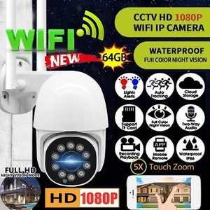 IP Camera Wifi 2MP 1080P Ultra HD H.265 Home Security Surveillance W/Noise Reduction Mic Night Vision CCTV Speed Dome Camera