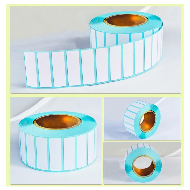 Gran oferta 1000 uds/rollo de etiqueta con adhesivo termal etiqueta para papel etiqueta para precio en blanco para supermercado suministros de impresión directa impermeable