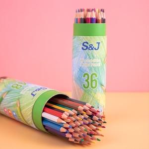 Drawing Color Pencil Set 36/48 Colors Colored Pencils Artist Colour Coloring Pencils School Office Pencil Set Stationery For Kid