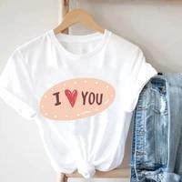aesthetic kawaii i love you printing short sleeve t shirts 2021 alphabet love printed summer plus size t shirts fashion t shirt