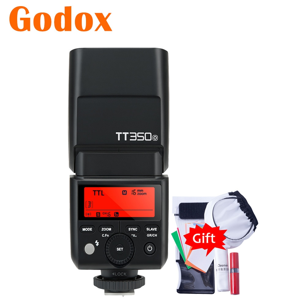 Godox Mini TT350O TT350-O 2,4G TTL GN36 HSS Cámara Flash Speedlite Flash para Olympus Panasonic Lumix GH5 GH4 LX7 G7 G85GK