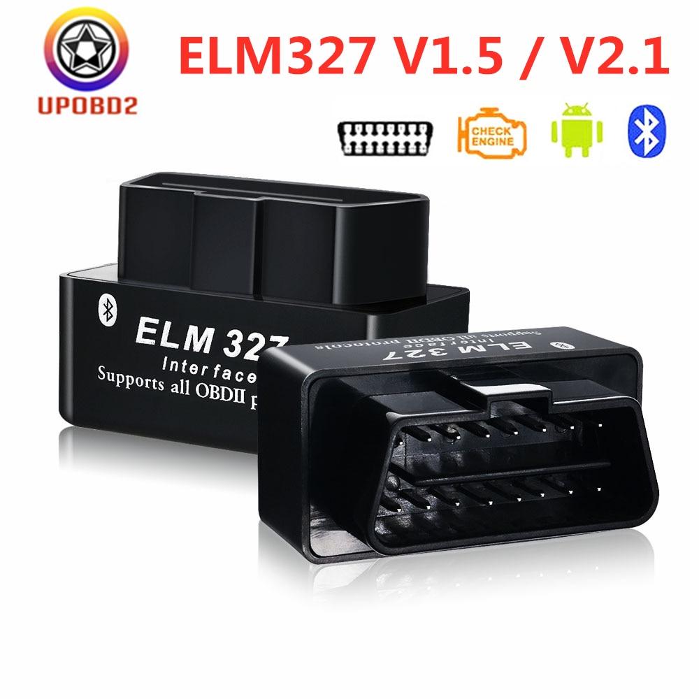 ELM327 Bluetooth 1.5 2.1 OBD2 Car Code Reader ELM 327 ELM327 V1.5 V2.1 obd2 Diagnostic Scanner Tool Interface Work on Android