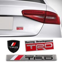 1 pièce en alliage daluminium emblème pour Toyota Racing TRD toundra Yaris Corolla Prado Land Cruiser Camry Hiace 4 coureur autocollant extérieur