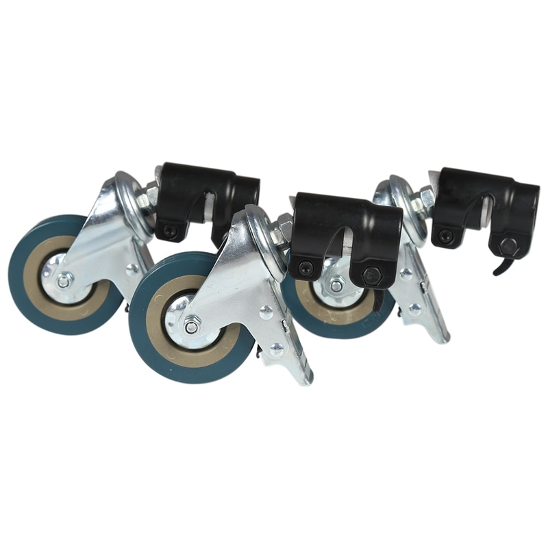 3 قطعة C-الوقوف عجلة الكاستر دوارة مجموعة ، 25 مللي متر قطر للتصوير القرن مصباح قابل للطي حامل ترايبود السحر الساق