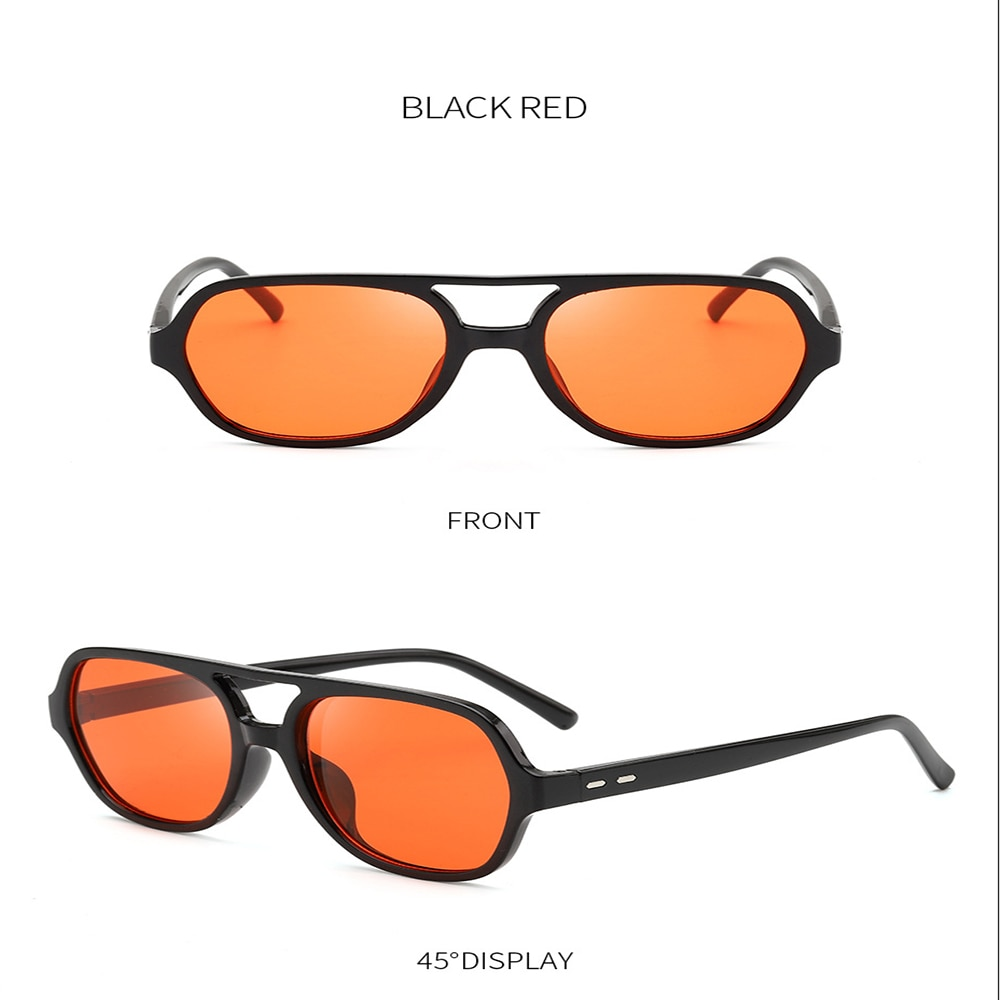 Ocean Film Anti-ultraviolet Sunglasses Retro Polygonal Square Sunglasses Transparent Toad Glasses Bl