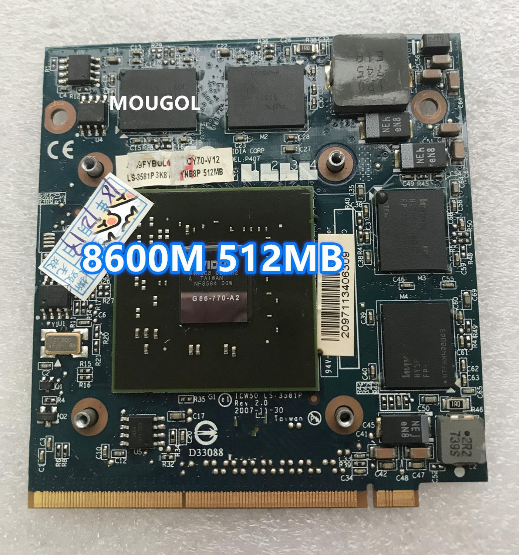 VG.8PS06.001 8600 de 8600M GS G86-770-A2 MXM II DDR2 512MB Graphics vídeo...