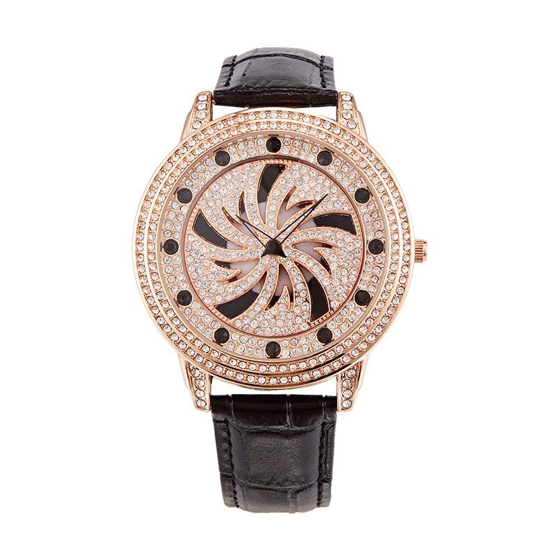2021 New Top Brand Watch Ladies Rose Gold 360 Degree Rotation Women Watch Woman Diamond Quartz Watches Clock Relogio Feminino