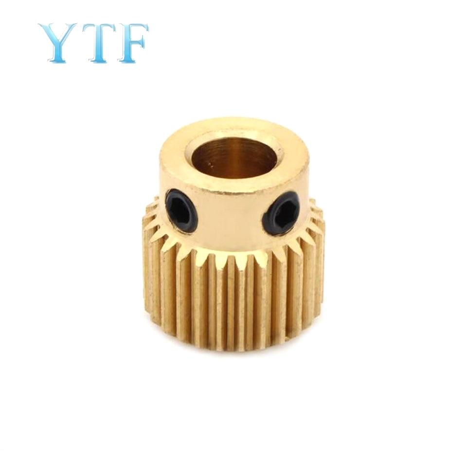 26 peças da impressora 3d do diâmetro interno 5mm da engrenagem da cabeça da extrusão dos dentes para a extrusora mk8
