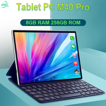 Tablets 8GB RAM 256GB ROM M40 Pro 10.1'' Tablet 1920x1200 Octa Core Android 10 Tablet Android 5G Network Dual Wifi Tablette PC