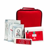 4pcslot aedsimulation trainer automated external aed training machine first aid cpr teaching with pads in english and russian