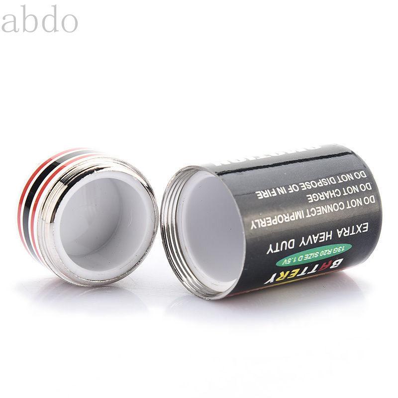 4.5*2.4cm New Hidden Money Coins Container Case Battery Secret Stash Diversion Safe Pill Box Battery Storage Boxes недорого