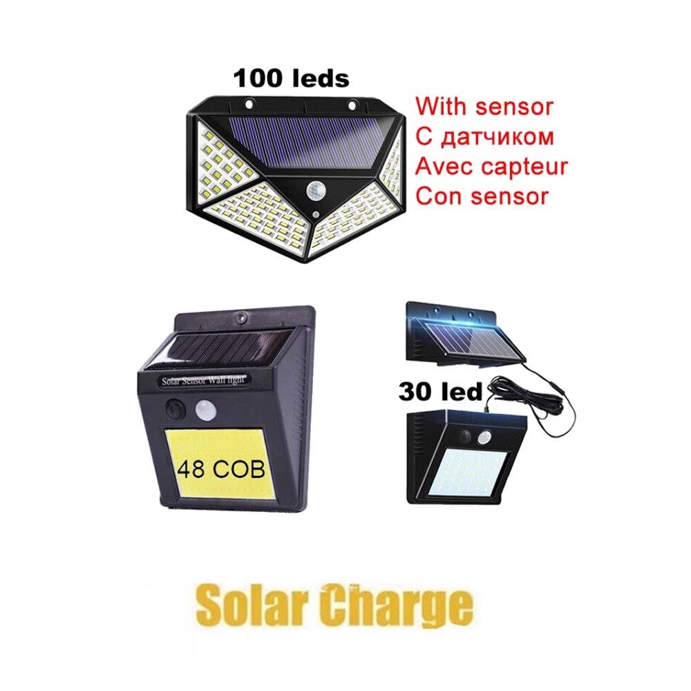 Lámpara Solar con Sensor de luz por movimiento PIR LED, lámpara Solar inalámbrica, impermeable para exteriores, jardín, patio, cubierta de seguridad, luz LED de interior ho