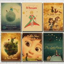 Vintage Poster Fairy tale The Little Prince kraft paper poster retro nostalgia Decorative Wall Sticker